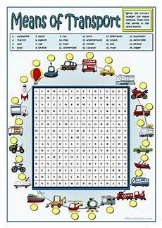 worksheets on vehicles 15217 83 free esl means of transport worksheets