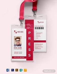 journalist id card template 43 free id card templates word psd indesign apple