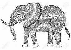 stock photo line design elefanten hintergrund und