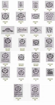 bavaria porzellanstempel katalog sorau verschiedenen porzellanmarken stempel sorauer