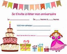 Carte Invitation Anniversaire Fille Carte Invitation