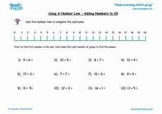 using a number line adding numbers to 20 tmk education