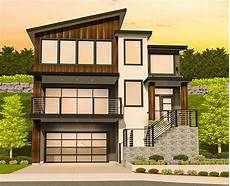 sloping house plans modern house plan for a sloping lot 85184ms