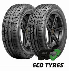 2x tyres 205 60 r16 92h continental contipremiumcontact2 e