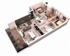three roomed house plan 25 more 3 bedroom 3d floor plans architecture design