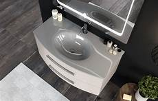 specchio con cassetti mobile sospeso 100cm con top e lavabo in cristallo 2