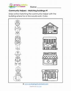 community helpers matching worksheets in these