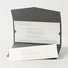 Faire Part Mariage Traditionnel Pochette Enveloppe