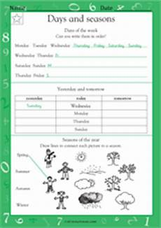 worksheets on seasons for grade 2 14834 ordering days and seasons worksheet grade 1 teachervision