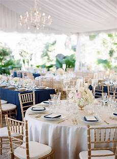 polished navy gold and blush reception with cream