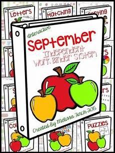 lesson for high school 18688 apples binder independent work binder system early childhood program created
