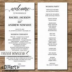 wedding program wedding ceremony order of events rustic wedding program wedding ceremony order of events