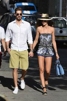izabel goulart and kevin trapp on vacation in st barts