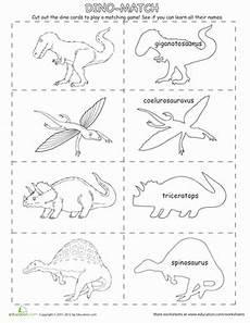 dinosaur matching worksheets 15344 dino match up worksheet education