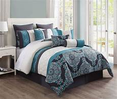 Size Bedroom Comforter Sets by 14 Justine Charcoal And Teal Reversible Bed In A Bag