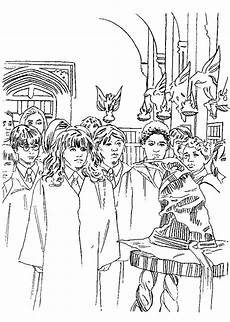 coloring page harry potter and the philosophers
