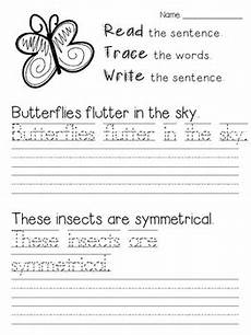 free handwriting worksheets for grade 2 21748 read trace write summer handwriting practice by polka dotted pencils