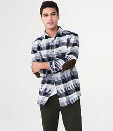 sleeve plaid patch woven shirt