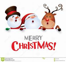 merry christmas happy christmas companions with big sign stock vector illustration of