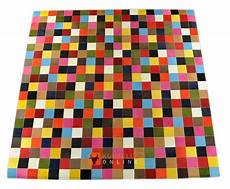 cowhide rug colorfull 200 x 200 cm kuhfelle nomad