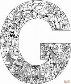 Ausmalbilder Erwachsene Buchstaben Ausmalbild Der Buchstabe G Ausmalbilder Kostenlos Zum