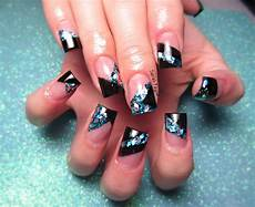 blue and black nail art nails elegant nails nails