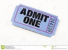 Blue Ticket Stock Photo Image 674450