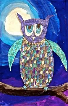 exploring art elementary art 3rd grade owl batik art projects 2nd grade 3rd grade art