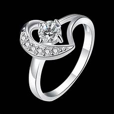 new 925 sterling silver wedding party fashion design ring size 7 8 options moon with
