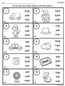 cvc words rhyming worksheets by teacher s take out tpt