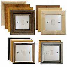 light switch surround finger plate art deco pine contemporary modern choice ebay