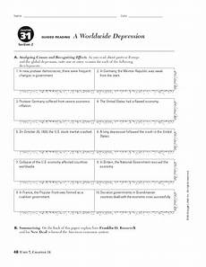 a worldwide depression worksheet for 9th 10th grade lesson planet