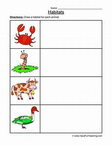 animal habitat worksheets 13889 animal habitats worksheet drawing 2