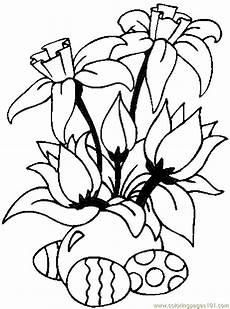 coloring pages easter eggs flowers entertainment