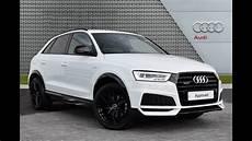 audi black edition audi q3 tdi quattro s line black edition white 2017