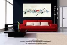 tableaux modernes pour salon tableau beige blanc cr 232 me d 233 co grand format cr 233 ation