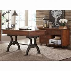 credenza table liberty furniture arlington writing desk and credenza set