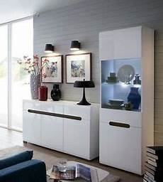 White Gloss Living Room Cabinets