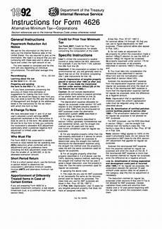 instructions for form 4626 alternative minimum tax