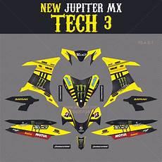 jual sticker striping motor stiker yamaha new jupiter mx monster yellow spec b di lapak arfan