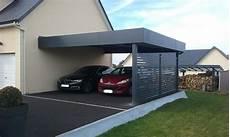 abri voiture moderne carport aluminium pr 233 au abri 224 deux voitures adoss 233 224