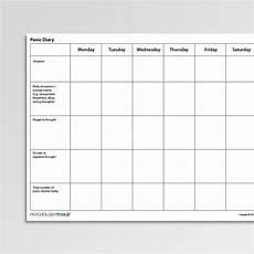 behavioural experiments worksheets 12670 panic diary worksheet pdf psychology tools