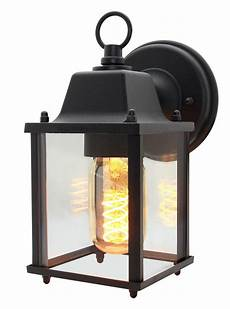 vintage outdoor wall light black metal glass lantern style wall l zlc082b 5055875572577 ebay