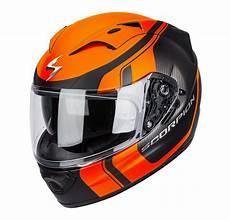 helmet scorpion exo 1200 tour black orange scorpion
