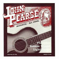 guitar strings 12 53 pearse 600l phosphor bronze acoustic guitar strings light 12 53 ebay
