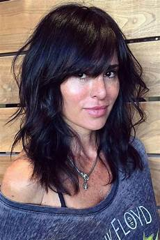 36 ideas for medium length hairstyles with bangs mane