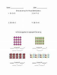 division worksheets with arrays 6420 division with arrays worksheets by bowlsbey tpt