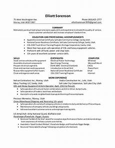 1 page resume 1 groundman apprentice lineman 2 6