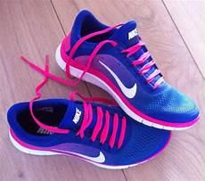 shoes nike nike free run blue pink running nike