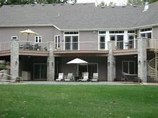 house plans with walkout basement and pool walk out basement with pool patio and deck above patio